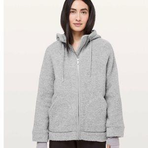 Lululemon Sherpa full zip grey size 10